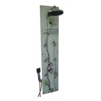 Dikey Cam Orfe Yeşil Hydrocabin Duş Seti