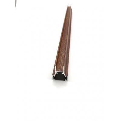 Cam Balkon  Ahşap Desenli Kahverengi Renk Fitil Profil Çıta -8mm Göre H