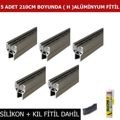 Katlanır Cam Balkon Çıta Profil  Fitil 210 cm 5 li H