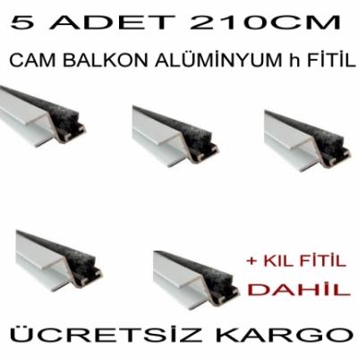 Cam Balkon Çıta Profil  Fitil 210 cm 5 li h