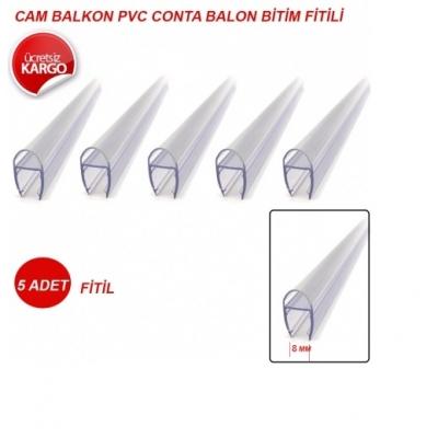 Cam Balkon Pvc Plastik Balon ve Bitim Fitili 250cm Lik - 8mm