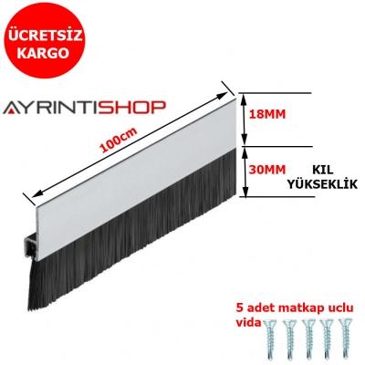 Kapı Alt Fırça Fitil - Alüminyum Kapı Alt Kıl Fırça Süpürgesi- 100cm