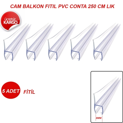 8mm Cam Balkon Fitil Conta h 250cm
