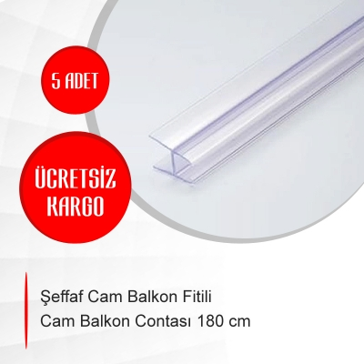 Şeffaf Cam Balkon Fitili Cam Balkon Contası 180 cm