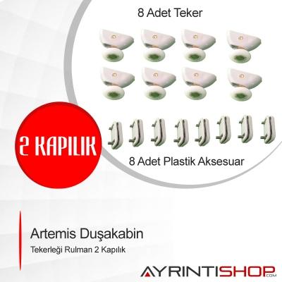 Artemis Duşkabin Teker Rulman Makarası 2 Kapılık