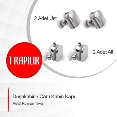 Duşakabin / Cam Kabin Kapı Metal Rulman Tekeri