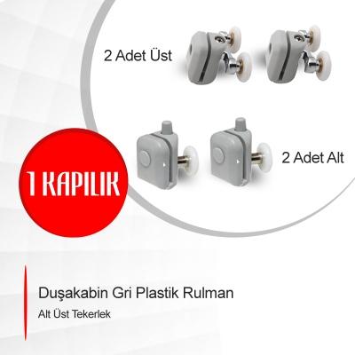 Duşakabin Gri Plastik Rulman Alt Üst Tekerlek Model: ayt-02-1